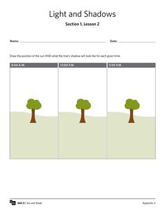 shadows worksheet cause and effect activities and graphic organizers. Black Bedroom Furniture Sets. Home Design Ideas