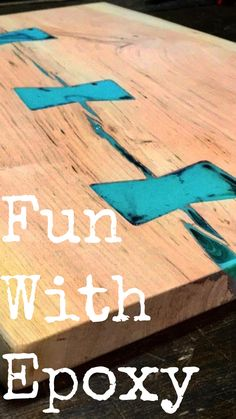 Sometimes woodworking needs a little added flare to add personality. Epoxy is an easy way to really make your piece make a statement. It's an easy DIY project for all levels of experience. Just mix a little up and fill cracks in live edge lumber, fill bow ties or even level out pieces. For more on using epoxy check out Lazy Guy DIY! Jet Woodworking Tools, Woodworking School, Woodworking For Kids, Woodworking Projects That Sell, Woodworking Magazine, Popular Woodworking, Teds Woodworking, Wood Projects For Beginners, Easy Wood Projects