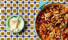 The weekend cook: Thomasina Miers' recipes for barley, chorizo and radicchio risotto, and goat's cheese salad with rhubarb pickle. Bitter leaves bring a welcome layer flavour and colour to all kinds of winter dishes. Chorizo Recipes, Risotto Recipes, Pork Recipes, Goats Cheese Risotto, Goat Cheese Salad, How To Cook Chorizo, Cooking Chorizo, Barley Risotto, Winter Dishes
