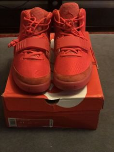 a3c4d7be2 Details about nike air yeezy 2 red october