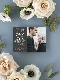 Whimsical Calligraphy Photo Wedding Save the Date Cards Cheap Wedding Decorations, Rustic Wedding Centerpieces, Romantic Wedding Colors, Elegant Wedding, Whimsical Wedding, Luxury Wedding Invitations, Wedding Stationary, Save The Date Magnets, Save The Date Cards