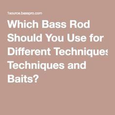 Which Bass Rod Should You Use for Different Techniques and Baits?