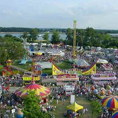 Elkhart County 4H Fair. It's the second largest county fair in the country & is larger than many state fairs.
