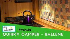 Quirky Campers Raelene Van Tour - Off grid van conversion Van Life, Campers, Grid, Conversation, British, Adventure, Youtube, Ideas, Camper Trailers
