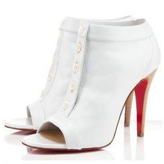 d2e7f777867 Christian Louboutin Maotic 120mm Ankle Boots White Zapatos De Moda
