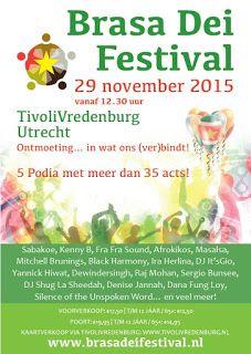 29 november 2015 Brasa Dei Festival in TivoliVredenburg Utrecht ~ De Surinaamse Krant