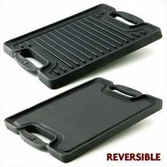 Cast Iron 2 Burner Reversible Grill/Griddle $49.99