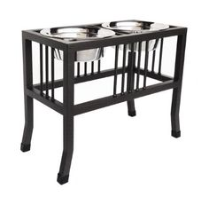 Baron Elevated Double Diner - 18' Tall ** Wow! I love this. Check it out now! : Dog bowls