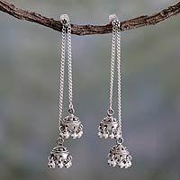 Sterling silver dangle earrings, 'Wedding Bells' from @NOVICA, They help #artisans succeed worldwide.