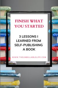 I struggled for a long time to finish what I started – in this case, a book. And then, finally, I finished it. Here are the three things I learned in the process of finishing my book once and for all. I hope they help you finish what you started. #finish #justdoit #creatives #creativity #creativeprojects #selfpublish Career Success, Financial Success, Career Change, Career Advice, Living Below Your Means, Career Exploration, Good Employee, Meaningful Life, Career Development