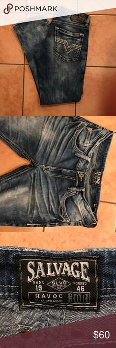 Salvage Havoc - 30R Lightly worn Salvage Havoc. Lightly worn. No tears or rips. 30/32 Salvage Jeans Slim Straight