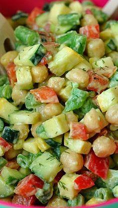 Farmer's Market Chopped Salad with Creamy Avocado Dill Dressing Recipe