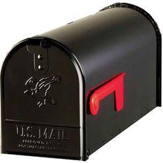 Standard Size Black Premium Vandal Resistant Aluminum Rural Residential Mailbox