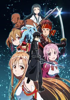 Sword Art Online: Asuna, Kirito, Lisbeth, Silica, Klein, Agil and Yui