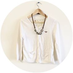 Lace sweater Light Creamy color. Back is lace Hollister Sweaters Cardigans