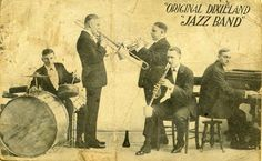The Original Dixieland Jazz Band, who released the first commercial jazz record. #Jazz