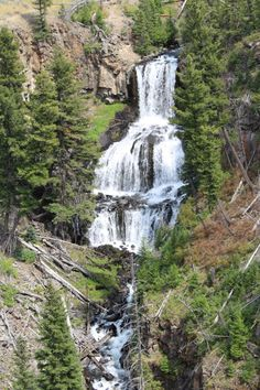 This is a list of all the best views of Yellowstone waterfalls. There are many views of the waterfalls. I tell you where to go to get the best views of each Most Visited National Parks, National Park Tours, Yellowstone National Park, Big Sky Montana, Beautiful Forest, Rafting, Nice View, Where To Go, Wyoming