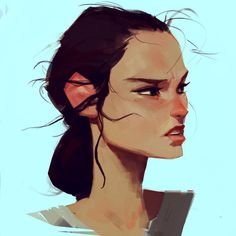 samuelyounart: A sketch of Rey