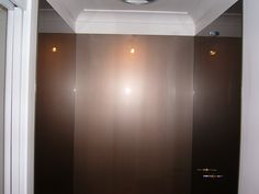 Three Shower Walls in Acrylic - painted in Metallic Brown. Installed by OzzieSplash.