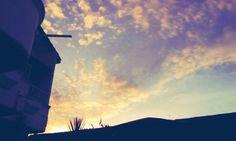 The sky above Mom's house