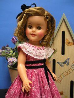 "Very Sweet Original 15"" Ideal Shirley Temple Doll in Her Pink Fancy Dress | eBay"