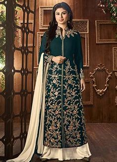 Mouni Roy Dark Green Anarkali Suit