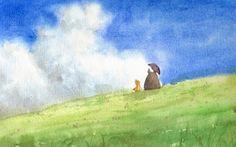 My Neighbor Totoro, Tonari no Totoro Fan Art - watercolor