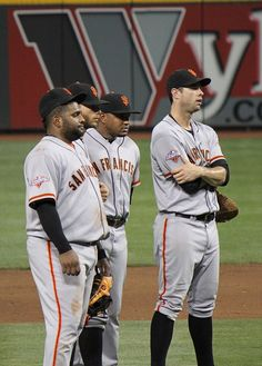 Pablo Sandoval, Brandon Crawford,Tony Abreu, and Brandon Belt ~ San Francisco Giants