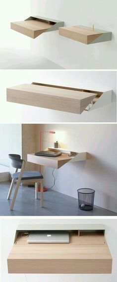 Simple and Creative Ideas: Floating Shelves Entryway Home Office floating shelf design night stands.Floating Shelves With Lights Work Spaces floating shelf living room sinks.Floating Shelves Around Tv Shelf Arrangement. Deco Design, Wood Design, Design Design, House Design, Graphic Design, Smart Furniture, Furniture Design, Bedroom Furniture, Office Furniture