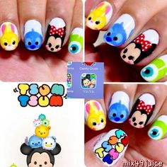 Tsum Tsum nails! So cute