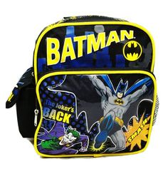 0a17c38f60b8 Batman the Joker is Back Small 10 Backpack Bag for Toddler    This is an