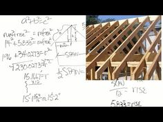 How to calculate the length of roof rafters (captioned) - YouTube