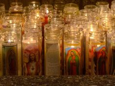Prayer Candles. Exactly how it looks at our home.