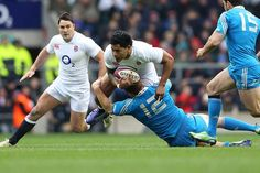 Tuilagi is halted by Garcia's tackle as England fail to find a way through