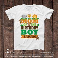 Safari Jungle Dad of the Birthday Boy Shirt - Zoo Birthday Party - Daddy of the Birthday Boy - Family Birthday Shirts - Custom Family Shirts Family Birthday Shirts, Family Birthdays, Family Shirts, Shirts For Girls, Preschool Graduation Gifts, Zoo Birthday, Birthday Ideas, Kindergarten Shirts, Pregnancy Announcement Shirt