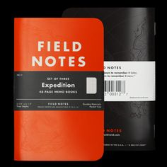 FIELD NOTES Expedition Edition. $9.95 for a 3-pack. Money well spent.