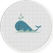 Whale Cross Stitch Pattern - via @Craftsy