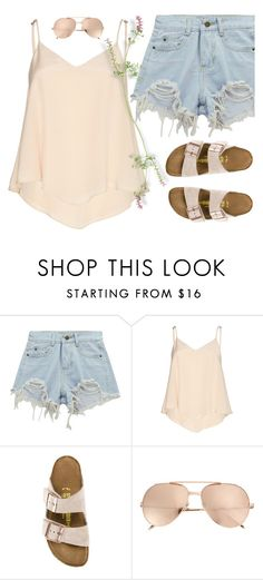 """Summer Fields"" by cb-hula ❤ liked on Polyvore featuring Chicnova Fashion, Alice + Olivia, Birkenstock and Linda Farrow"