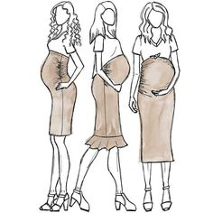 Make your own maternity wardrobe with the Erin ruched maternity skirt sewing pattern. The essential skirt for the maternity wardrobe.