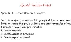 Travel Brochure Project (details and steps)