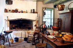 We've been fantasizing about colonial kitchens since soon after the Colonial era itself was over. What's that about?