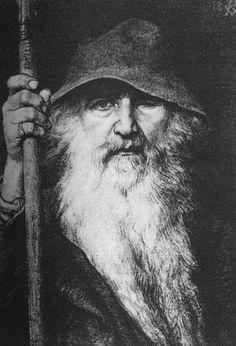 """Georg von Rosen - """"Oden som vandringsman"""", 1886 (Odin, the Wanderer)"""
