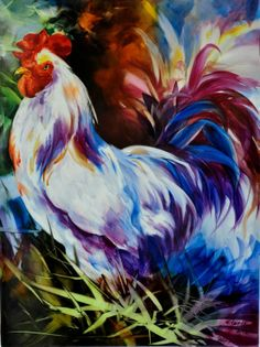 Felipe Painting Lessons, Painting & Drawing, Chicken Pictures, Rose Vase, Chickens And Roosters, Big Design, Happy Paintings, China Painting, Hens