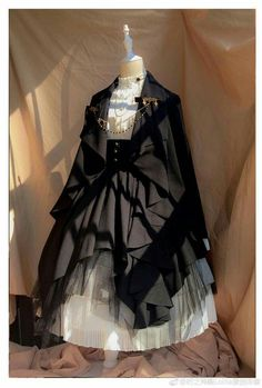 Time Temple -The Night Prayer- Vintage Gothic Lolita Jacket Pretty Outfits, Pretty Dresses, Beautiful Dresses, Cosplay Dress, Cosplay Outfits, Mode Ulzzang, Mode Lolita, Old Fashion Dresses, Fairytale Dress
