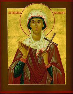 St Glyceria at Adrianopolis - Orthodox Church in America Church Icon, St G, Religious Icons, Orthodox Icons, Ikon, Pagan, Christianity, Catholic, Saints