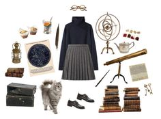 """astronomy at hogwarts"" by clarulven ❤ liked on Polyvore featuring Arteriors, Original Vintage Style, Vanessa Bruno, Yves Saint Laurent, Emma Watson, Sarreid, Tom Ford, Mineheart and Ann Demeulemeester"
