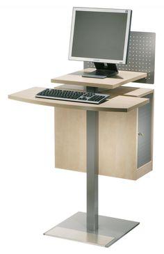 Opac lessenaar met CPU-box