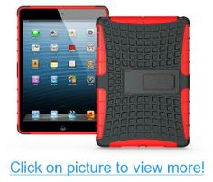 iPad Air Dura Tough Case - Rugged Protection With Kickstand (Red)