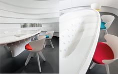 We are a global and creative design studio in Geneva, Tokyo and Beijing. Design Table, Chair Design, White Desks, Corian, Glass Table, Beijing, Showroom, Chairs, Waves