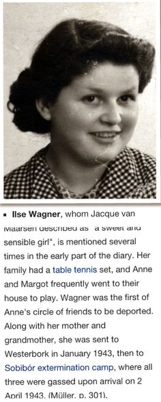 anne wondering what happened to friends like ilse wagner